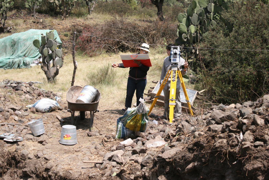 Topographical survey during the project in 2015