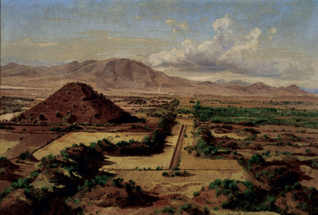 View from the Moon Pyramid, Teotihuacan, by Jose Maria Velasco, 1878