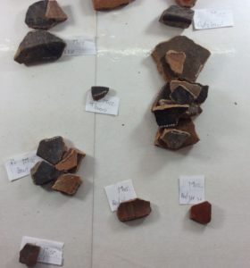 Classification of sherds, the Micc. abbreviation means Miccaotli, it corresponds to one of the Teotihuacan ceramic phases